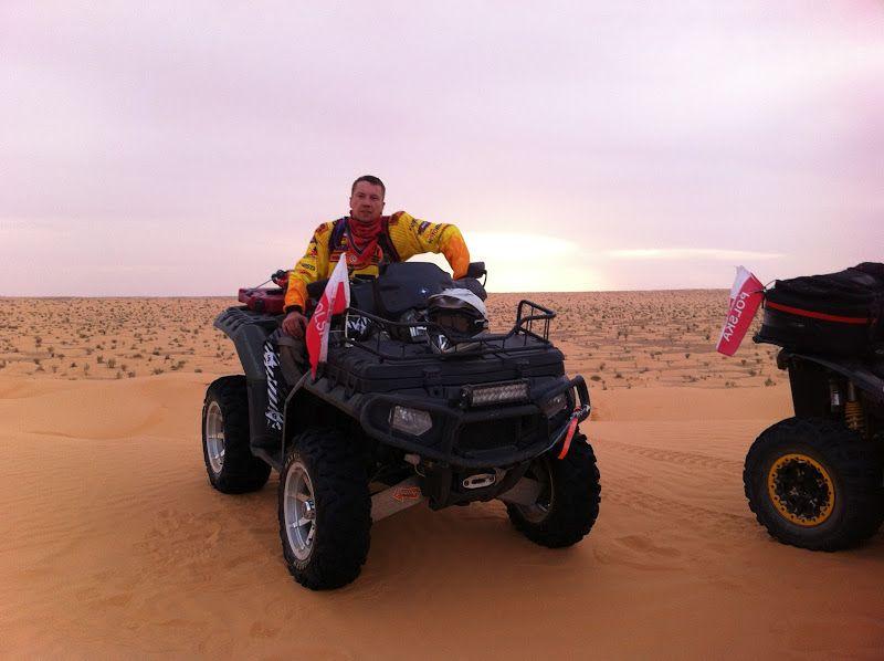 Polaris Sportsman XP850 na Saharze